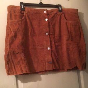 Dresses & Skirts - Corduroy button down skirt